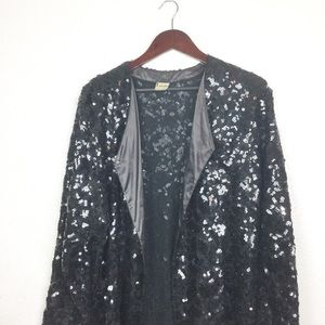 Rare Vintage Krizia Sequin Evening Duster Jacket